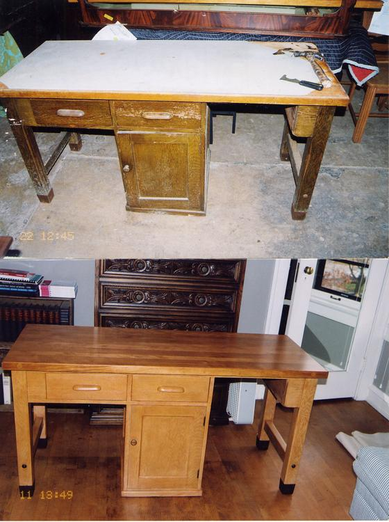 Computer Desk photo - before & after