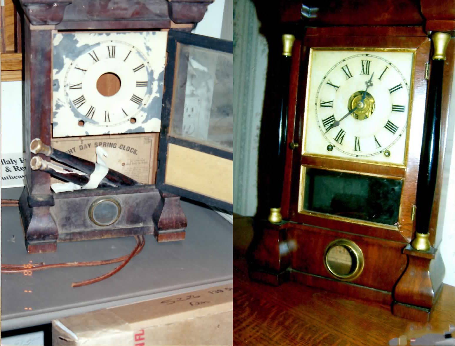 Clock We Were Chosen By A Mequon Customer To Restore A 19th Century Mantle Clock Including Repainting Numerals On The Face