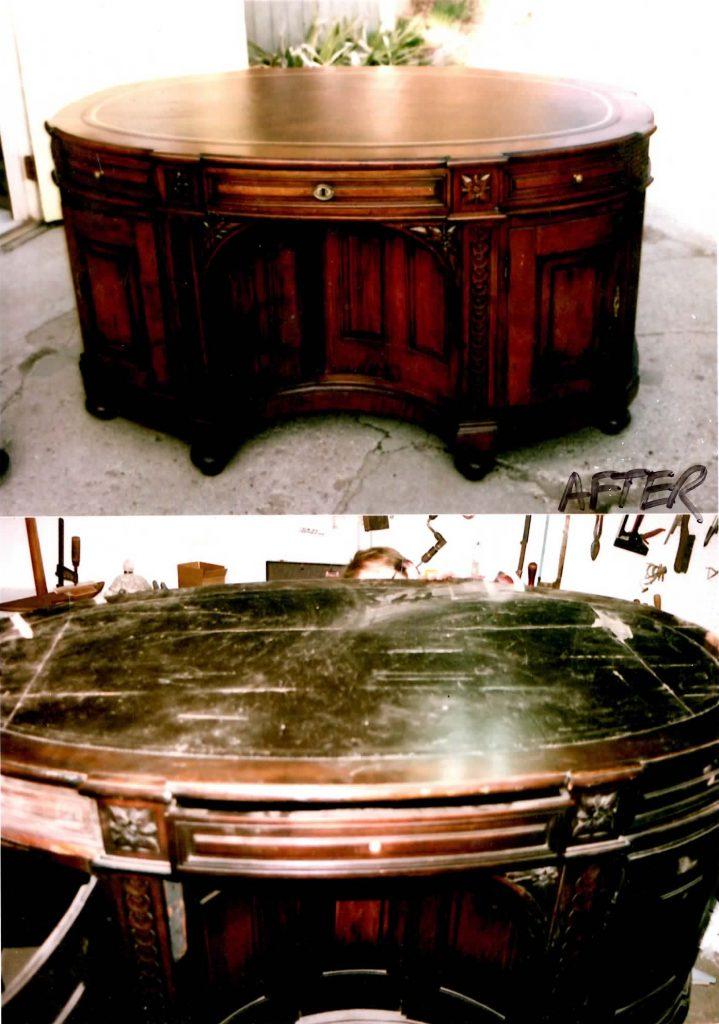 Antique Partners Desk We Were Chosen To Restore By A River Hills Dr