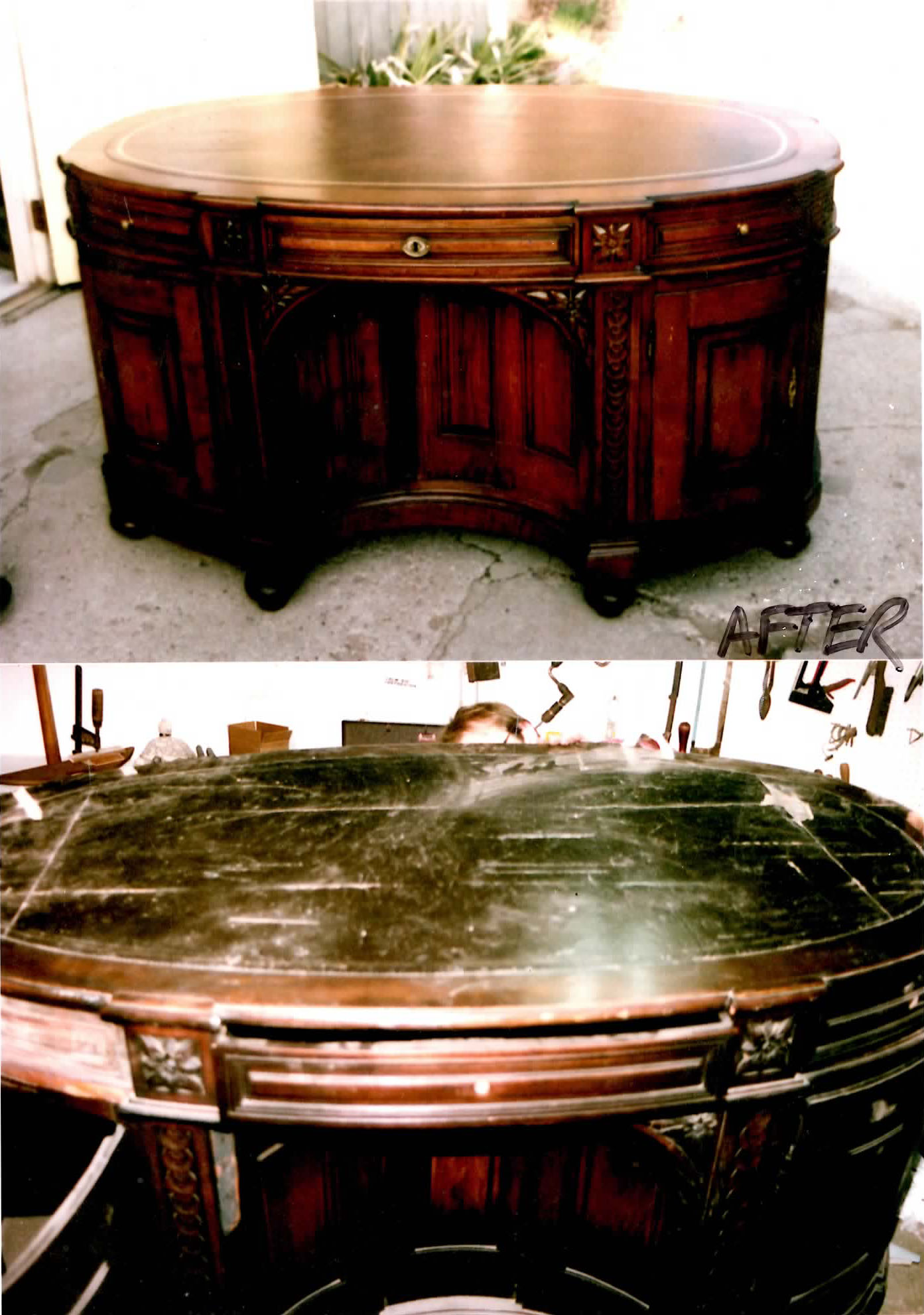 Antique Partners Desk We Were Chosen To Restore By A River Hills Dr