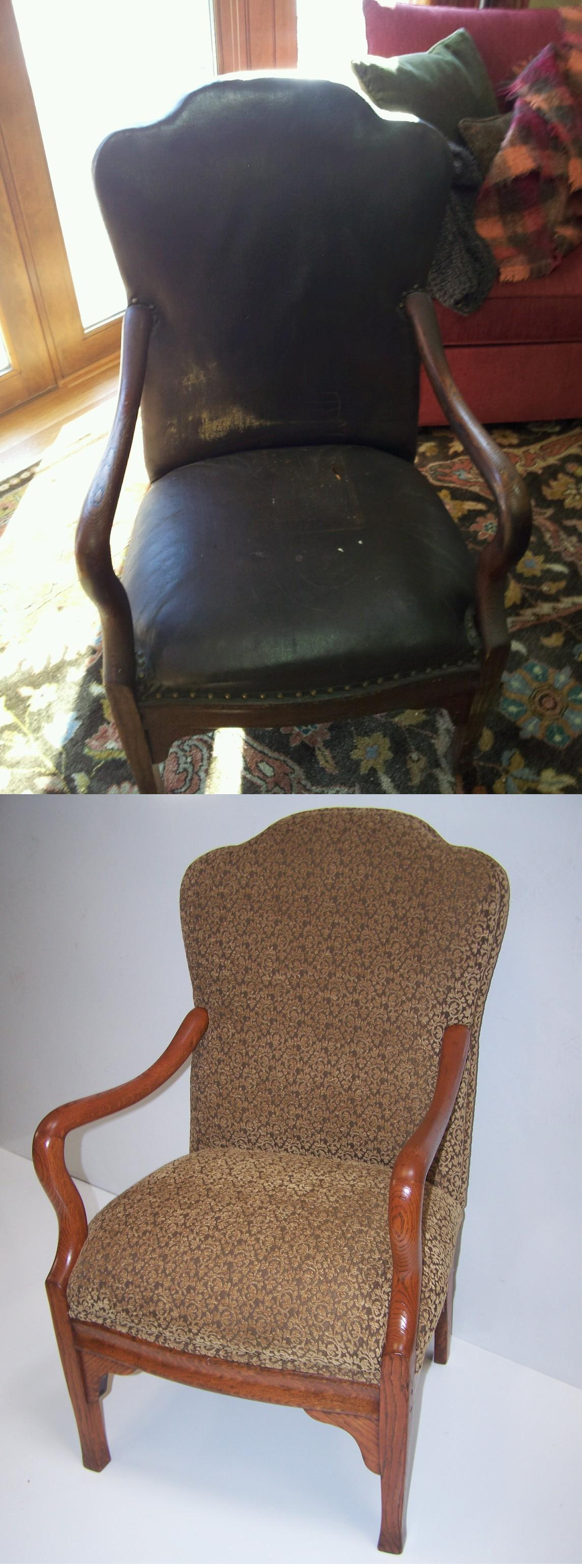 Antique Chair We Restored The Chair To A Custom Color To Fit The Customers Decor And Reupholstered With Fabric Chosen And Provided By The Customer