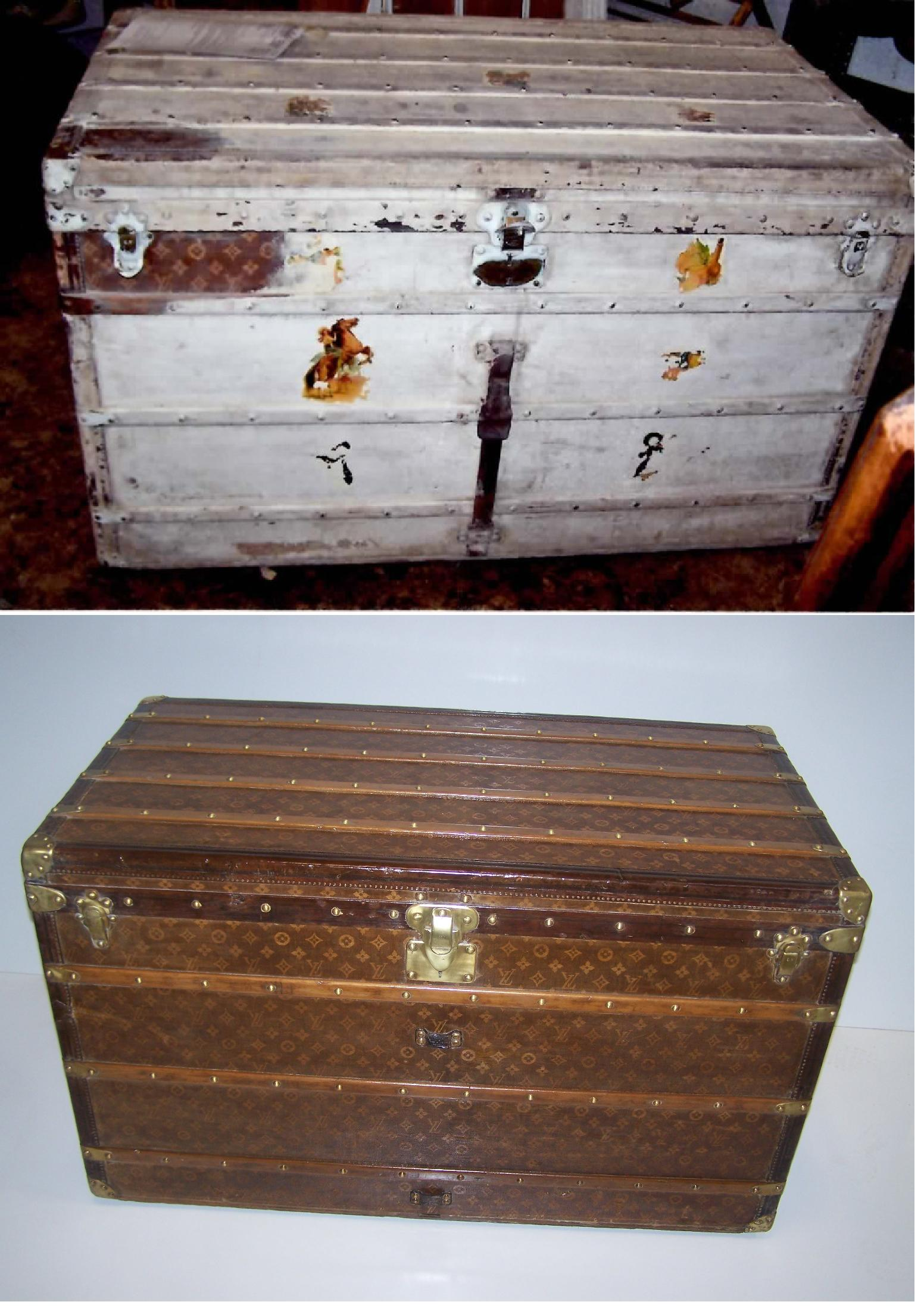 Louis Vuitton Trunk This Item Was Purchased By A Milwaukee Resident At Auction For $7 50 It Is Now Valued Over $10,000