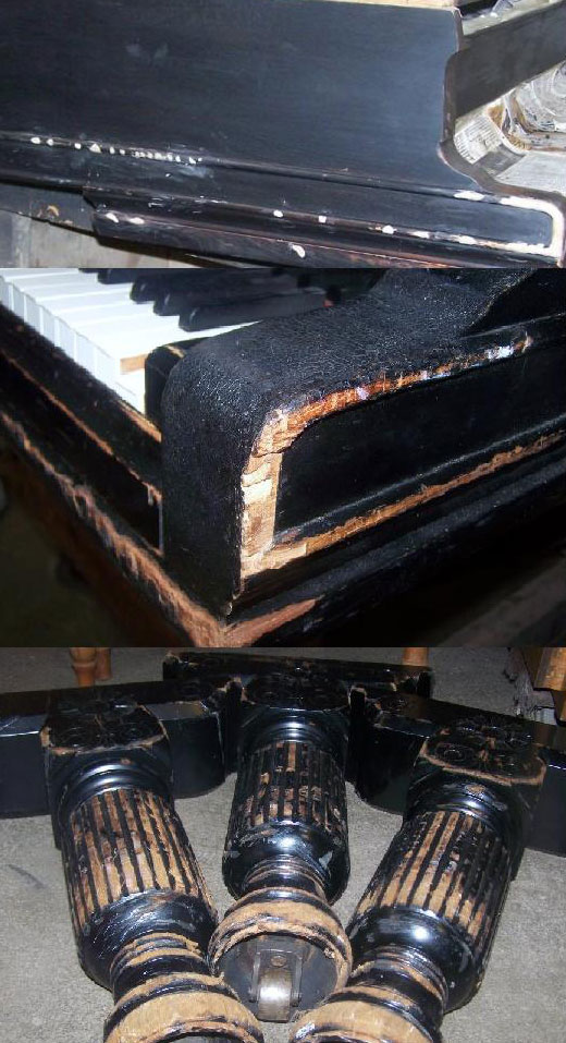 1894 Steinway Sons Grand Piano Before
