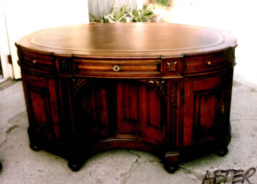 We were chosen to restore by a River Hills Dr. - Antique Partners Desk Mullaly Furniture Finishing