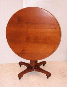 Natural Mahogany Table After