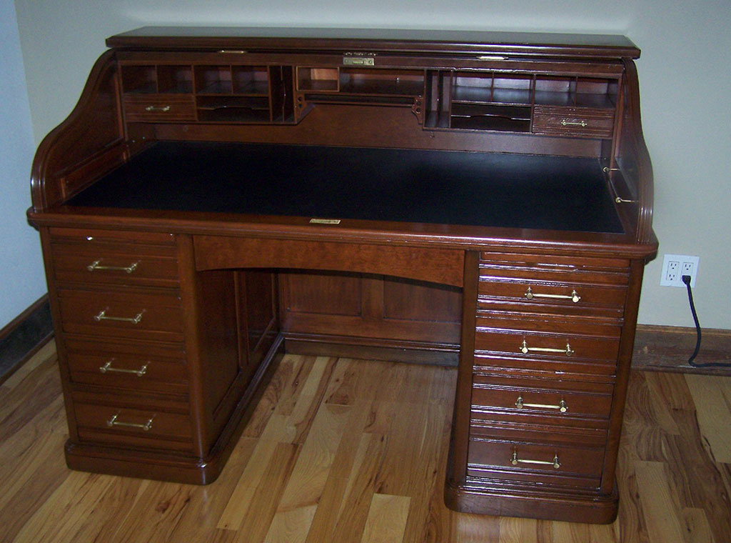 oak mart roll desk craigs p top