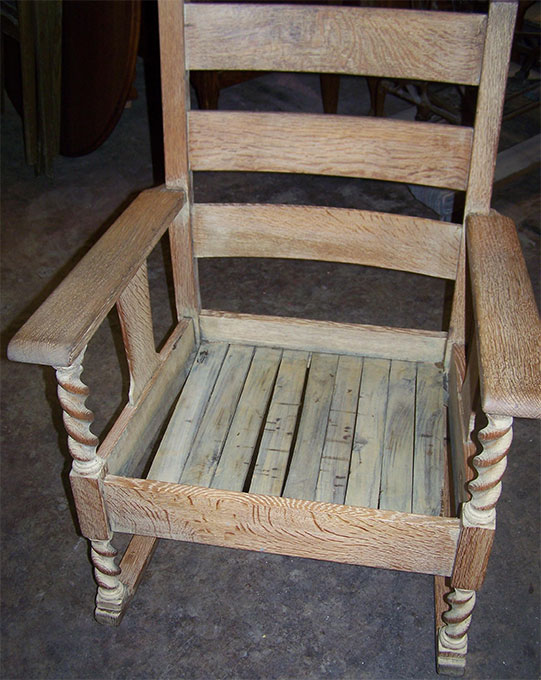 Stickley Rocker Before Small