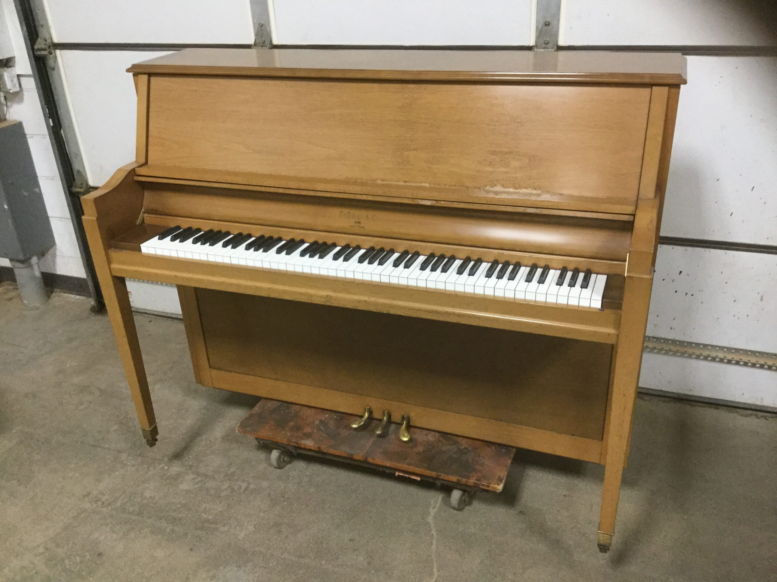 Upright Piano Before